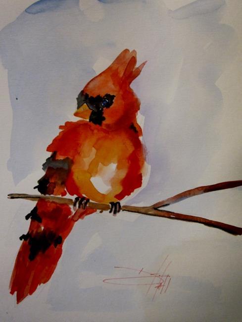 Art: Cardinal by Artist Delilah Smith