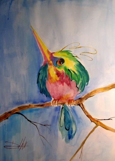 Art: Sweet Hummingbird-SOLD by Artist Delilah Smith