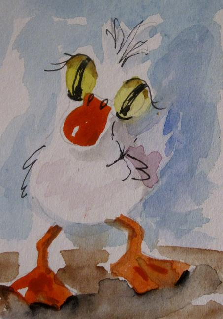 Art: Big Eyed Duck by Artist Delilah Smith