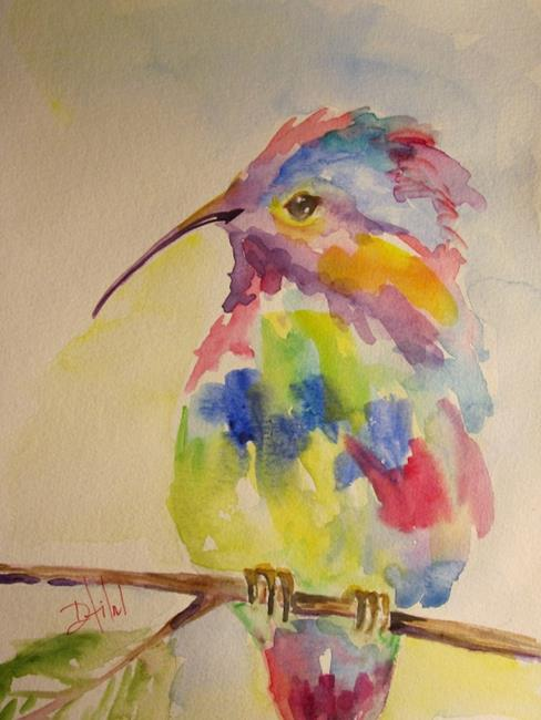Art: Colorful Hummingbird by Artist Delilah Smith