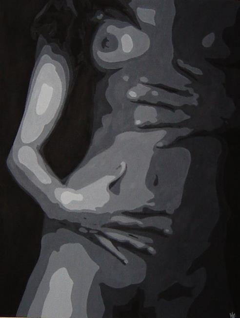 Art: Black & White Torso #3 by Artist Kris Jean