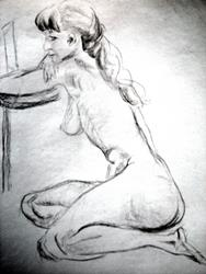 Art:  Five minute Life Drawing #703 by Artist L. M. McCurdy
