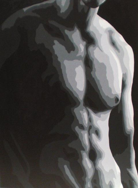 Art: B&W Torso #7 by Artist Kris Jean