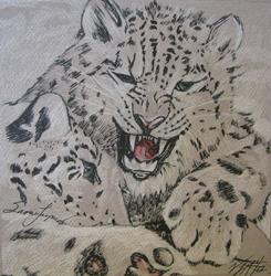 Art: Snow Leopards by Artist Vic  McG