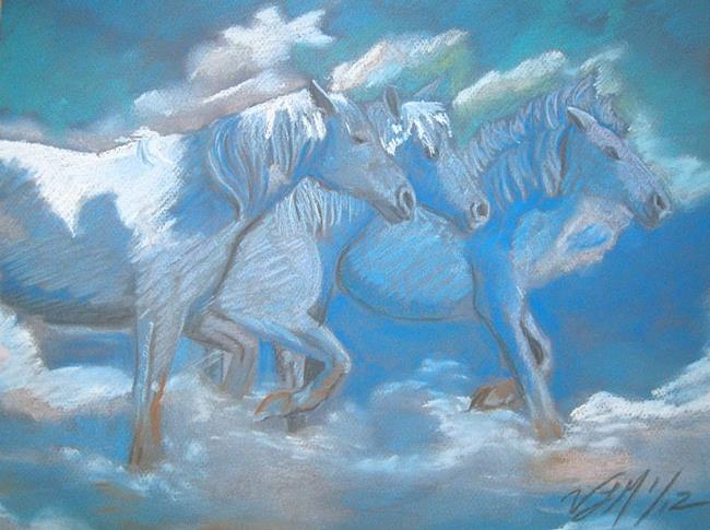 Art: Cloud Horses by Artist Vic Ki Lynn