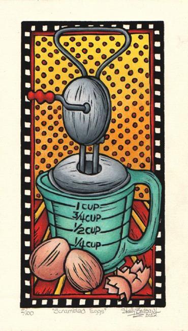 Art: Scrambled Eggs (bp) by Artist Shelly Bedsaul