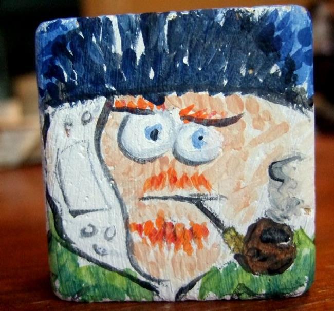 Art: lil' block heads Vincent Van Gogh (artist series) by Artist Noelle Hunt