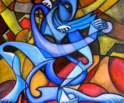 Art: One So Blue by Artist Roy Guzman