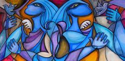 Art: Blue Angel Flight by Artist Roy Guzman