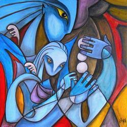 Art: Baby Blue by Artist Roy Guzman