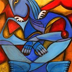 Art: Lone Angel by Artist Roy Guzman