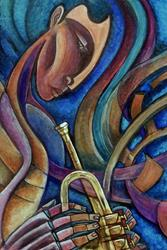 Art: Brass Ensemble I by Artist Roy Guzman