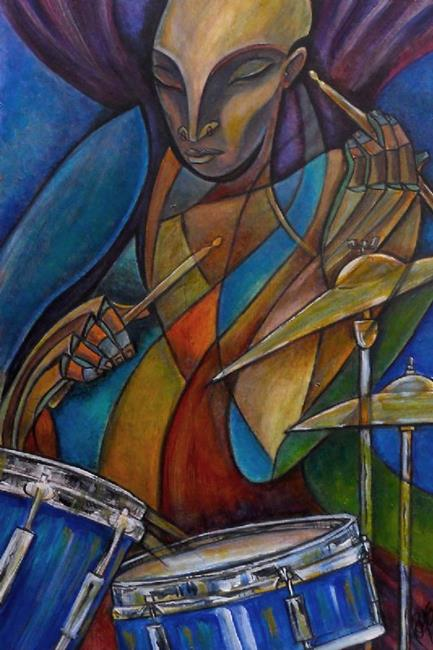 Art: Downbeat by Artist Roy Guzman