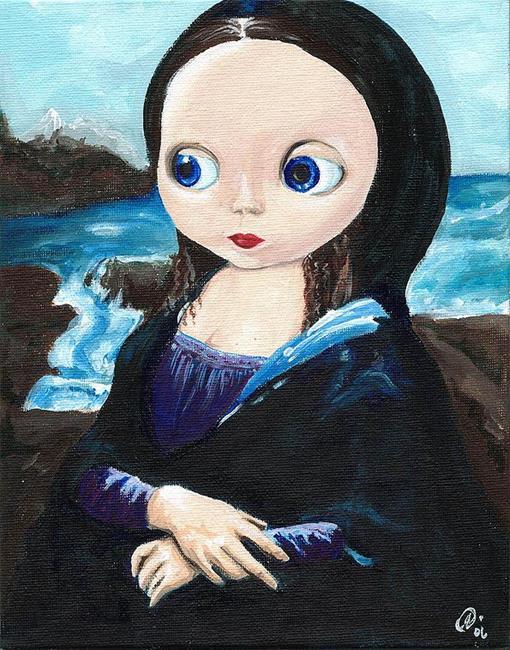 Art: Mona Lisa Smiled by Artist Noelle Hunt