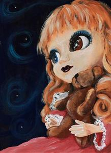 Detail Image for art The was a little girl who had a little curl