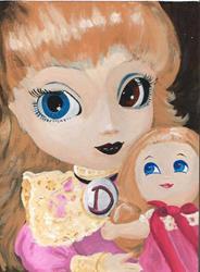 Art: D is for Dolliez by Artist Noelle Hunt