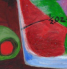 Detail Image for art Shot Glass mermaid