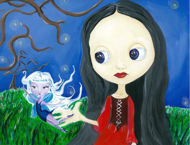 Art: Fairies & Blythe by Artist Noelle Hunt