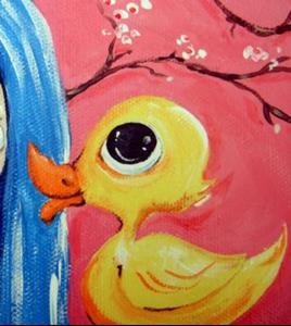 Detail Image for art Kawaii Asian Butterfly Blythe Portrait