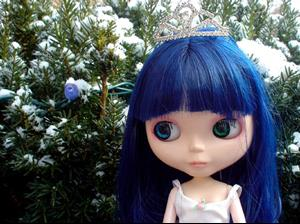 Detail Image for art Ginsu  the Snow Queen Custom Blythe Doll