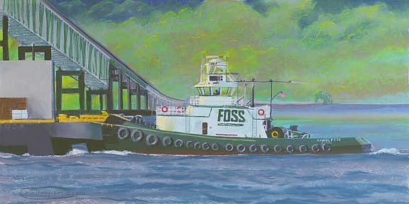 Art: When Tug Comes To Push by Artist Carol Thompson