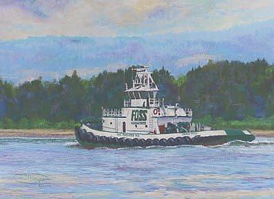 Art: Foss On The Columbia River by Artist Carol Thompson