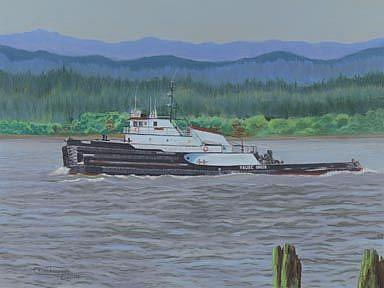 Art: Chinook On The Ply by Artist Carol Thompson