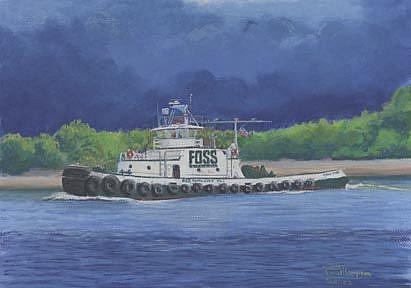 Art: In Any Weather Daniel Foss by Artist Carol Thompson
