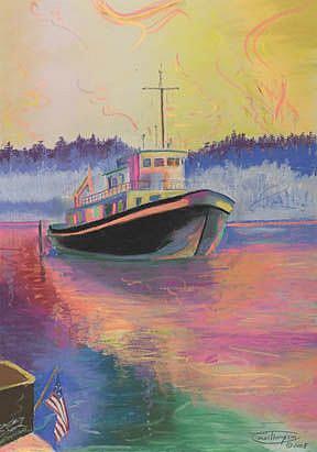 Art: An American Tug by Artist Carol Thompson