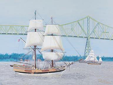 Art: Challenge At The Bridge by Artist Carol Thompson