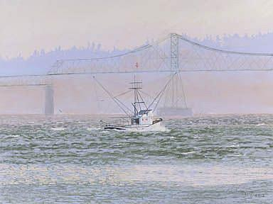 Art: Kay Ann At The Bridge by Artist Carol Thompson
