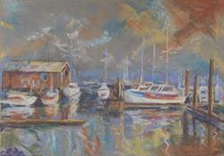 Art: Harbor View by Artist Carol Thompson