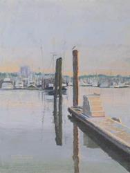 Art: Brookings Harbor by Artist Carol Thompson