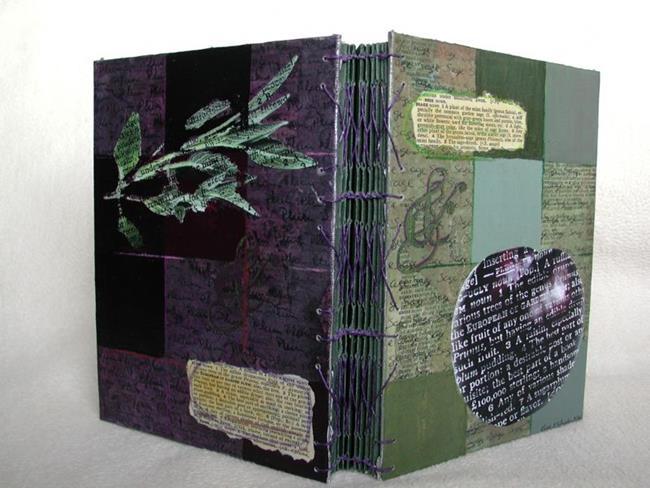 Art: Plum & Sage Journal - SOLD by Artist Kristi Schueler