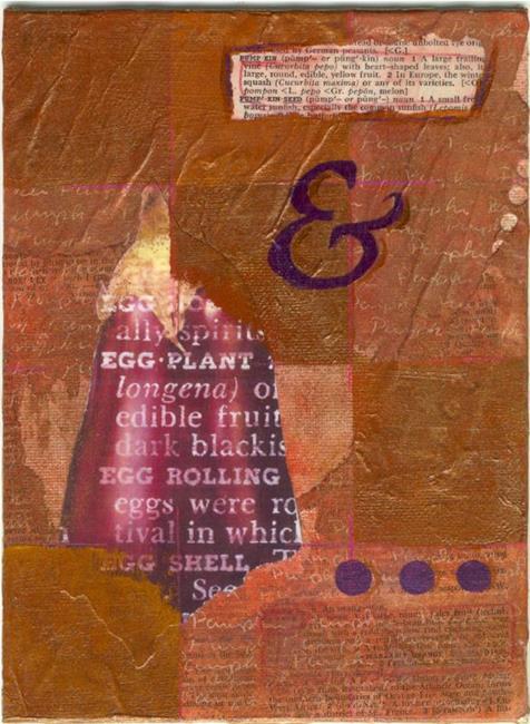 Art: Pumpkin & Eggplant Journal by Artist Kristi Schueler