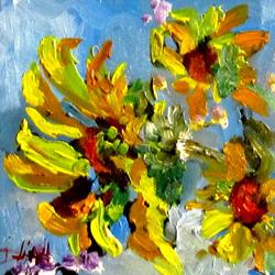 Art: Interpretation of Sunflowers by Artist Delilah Smith