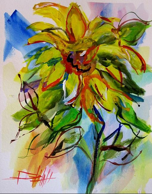 Art: Van Gogh Sunflowers No. 4 by Artist Delilah Smith
