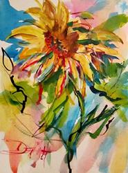 Art: Van Gogh Sunflowes No. 3 by Artist Delilah Smith