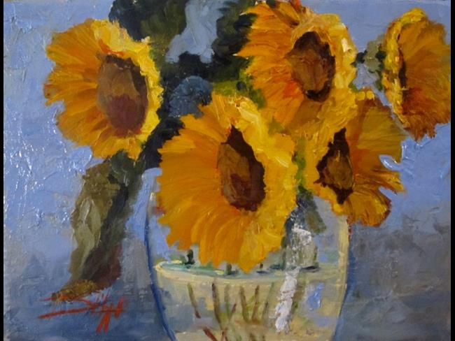 Art: Yellow Flowers by Artist Delilah Smith