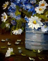 Art: Texas Bluebonnets and Daisies by Artist Delilah Smith