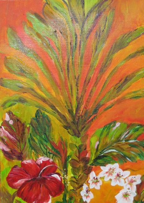 Art: Tropical Summer, SOLD by Artist Delilah Smith