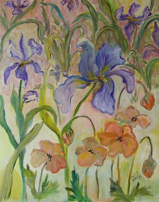 Art: Iris in Bloom by Artist Delilah Smith