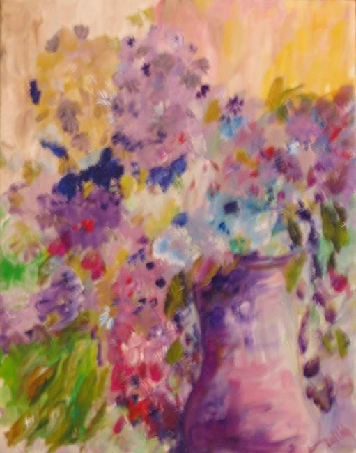Art: The Color Purple by Artist Delilah Smith