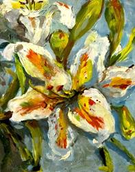 Art: White Lily by Artist Delilah Smith