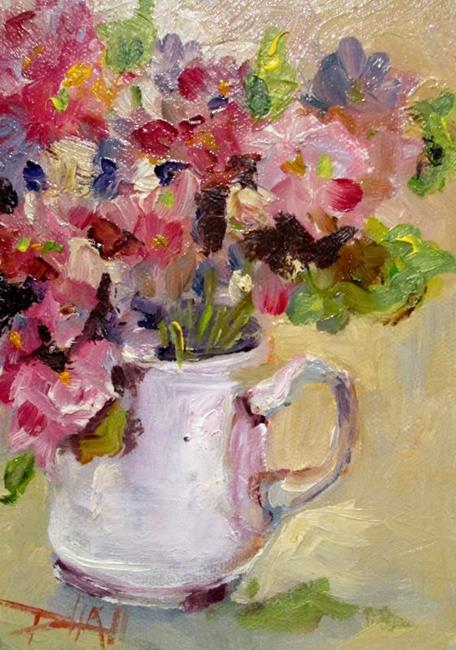 Art: Cup of Flowers-sold by Artist Delilah Smith