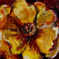 Art: Yellow Poppy-sold by Artist Delilah Smith