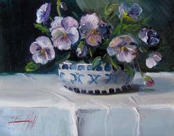 Art: Pansy Still Life by Artist Delilah Smith
