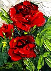 Art: Red Rose by Artist Delilah Smith