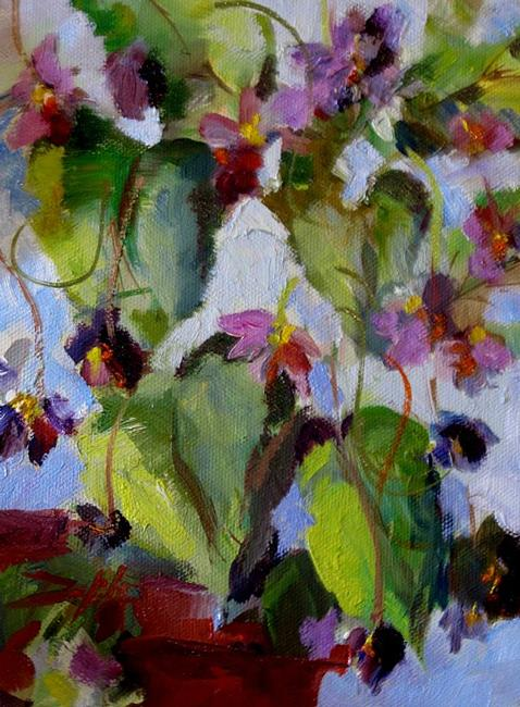 Art: Pot of Violets by Artist Delilah Smith