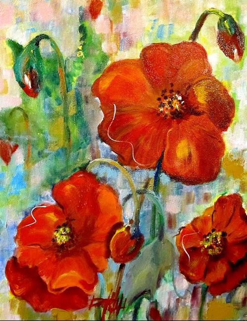 Art: Poppy Time-sold by Artist Delilah Smith